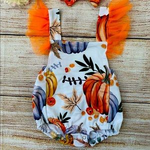 Pumpkin infant outfit